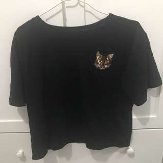 貓貓刺繡T恤