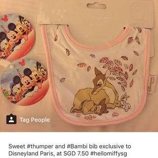 Disneyland Paris Bambi baby bib