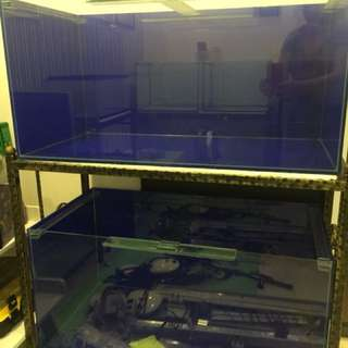 3ft Tank x 2 with stand