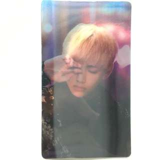 BTS Wings Concept Book Official Lenticular Photocard V / Taehyung