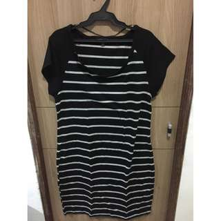Cotton On Stripes Dress (Black)
