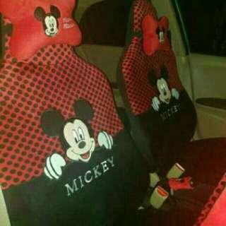 Sarung Jok Mobil Khusus Agya dan Ayla Motif Mickey dan Minnie Mouse