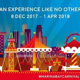 $80 Prudential Marina Bay Carnival Credits