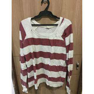 F21 Red Stripes Sweater