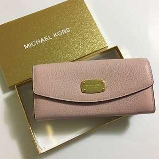 美國訂購全新現貨 Michael Kors 粉紅色長銀包