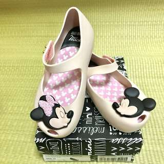 BN Mini Melissa Ultragirl + Disney Twins I Light Pink Shoes US10 (2015)
