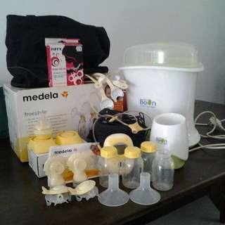 medela breast pump with warmer+steriliser