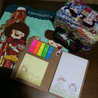 已減價:) Chocolate Rain 儲存盒(毛巾、告示貼) Storage Box(handkerchief, memo pack)