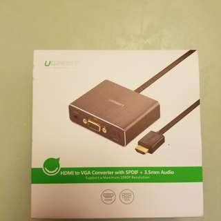 綠聯 HDMI轉VGA+3.5+SPDIF(光纖) 插