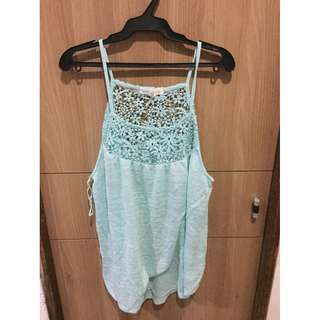 Aeropostale Mint Sleeveless Blouse