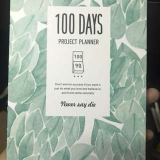 100 DAYS Project Planner 🍃