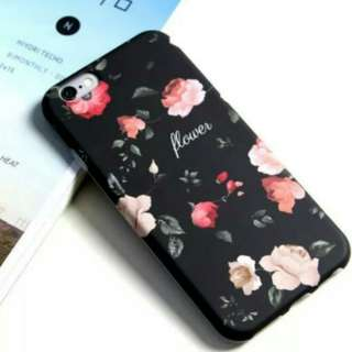 Black Floral Wallpaper Iphone HP Cover / HP Casing