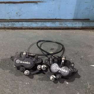 Set of Brembo front brake calipers