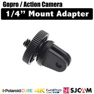 "Gopro / Action Camera to 1/4"" Camera Mount Adapter"