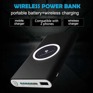 Wireless Charging Portable Bank 2-in-1 Power Bank 10000mah