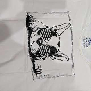 Cool Frenchie - Kaos Lengan Pendek Putih