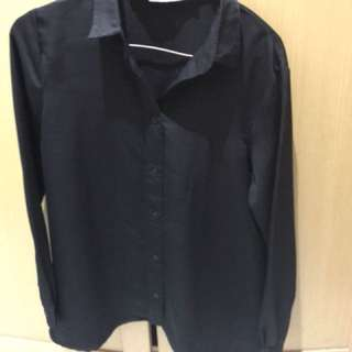Cottonink black shirt with back cut size S