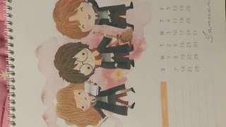 Harry Potter watercolor calendar