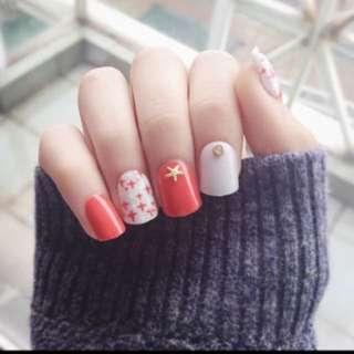 Chinese New Year ready fake nail tips