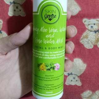 Skin Genie Aloe Vera, Witch Hazel, And Rose Water Mist