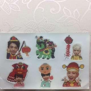 Shinee新年小貼紙