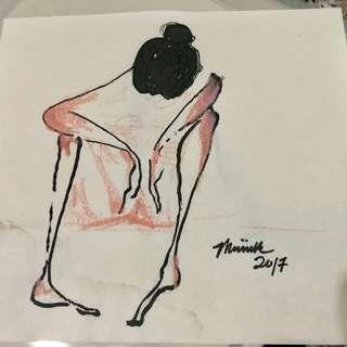 #meiinkart ink painting