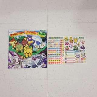 Pokemon Calendar 2008 Collectible