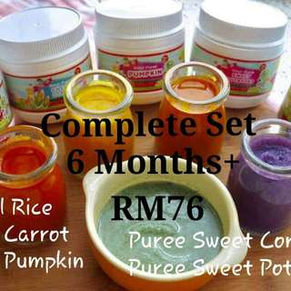 Complete set puree for 6 months baby