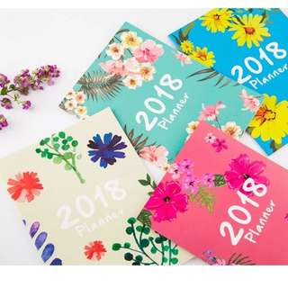 2018 A4 Floral Monthly Planner