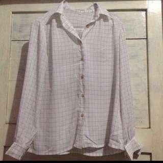 Vintage Square Simple Shirt
