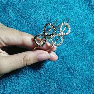 Bundle Infinity Bracelet (black & white)