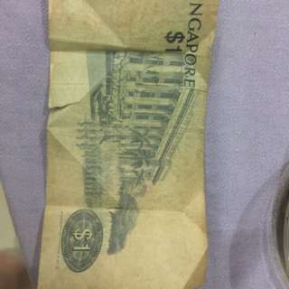 Old $1 note