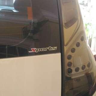 Car chrome sticker