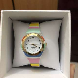 KATE SPADE Rumsey Multi-color Stripe Silicone Ladies Watch