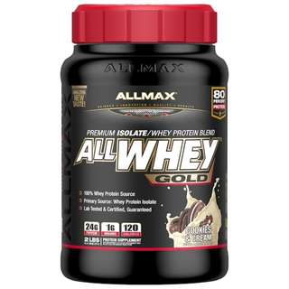 ALLMAX Nutrition, AllWhey Gold, Premium Isolate/Whey Protein Blend, Cookies & Cream, 2 lbs (907 g)