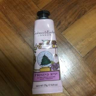 Crabtree & Evelyn frosted rose ultra moisturing hand therapy
