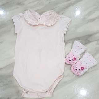 Authentic Burberry Baby Girl Romper