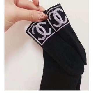 """全新CHANEL女裝運動襪子黑色配""""白色CC LOGO""""尺寸 小至中  *Size S to M* Sport Socks"""