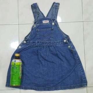 Girl' jeans dress Poney