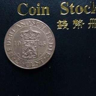 Coin nedherlands indie 1945
