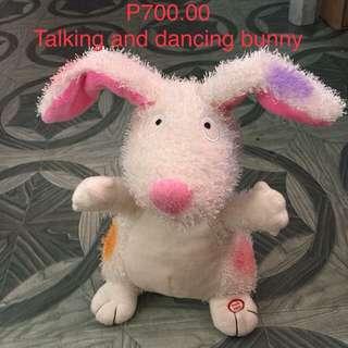 Talking and dancing bunny