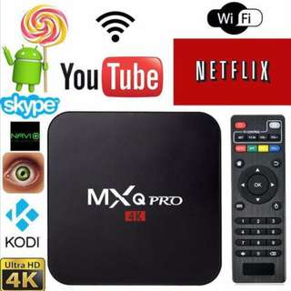 [Free Shipping] Smart TV Box MXQ4k MXQ pro 4k RK3229 kodi wifi youtube