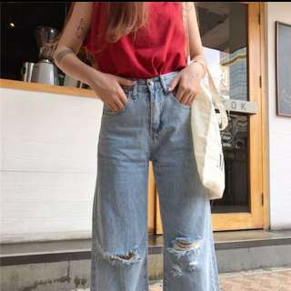 Selling low!! HIGH WAIST WIDE LEG JEANS PANTS DENIM FLARE