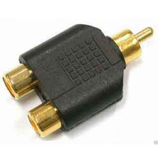 Phono Splitter/Joiner Adapter 2 RCA Sockets to RCA plug