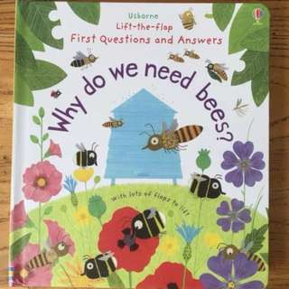Usborne Lift-the-Flap why do we need bees?