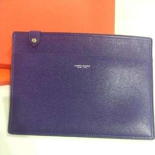 真皮 紫色 A4 文件套