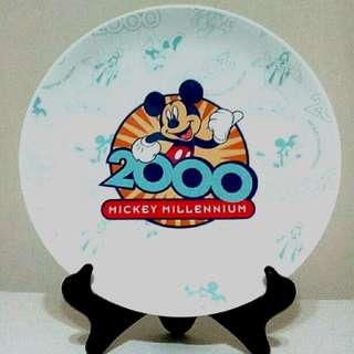 迪士尼米奇千禧年紀念瓷盤