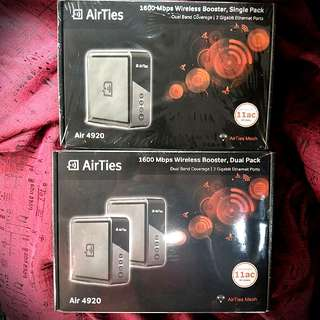 (SOLD OUT) BNIB Airties Wifi Mesh 1600Mbps SINGLE/DUAL PACK (WILL SEND TO U)