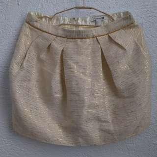Forever 21 Gold Dressy Skirt