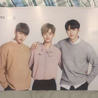 Lens nine x Wanna One 3人poster